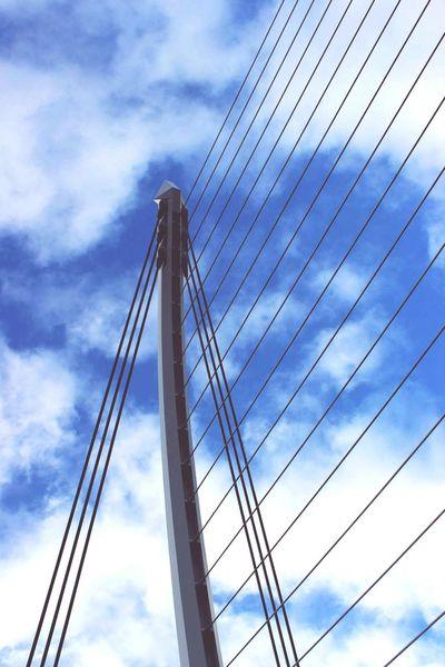 Sky Connection Cloud - Sky Suspension Bridge Outdoors Bridge - Man Made Structure No People Day Street Photography Streetphotography Bridge