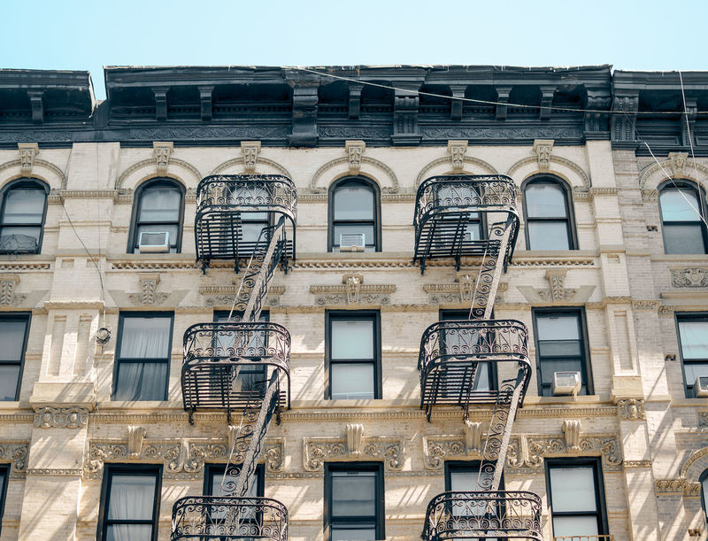 Lower East Side Architecture Apartment Architecture Building Building Exterior Built Structure City Day Emergency Exit Fire Escape Home Improvement Low Angle View Nature No People Outdoors Railing Residential District Safety Side By Side Sky Staircase Steps And Staircases Window The Architect - 2018 EyeEm Awards