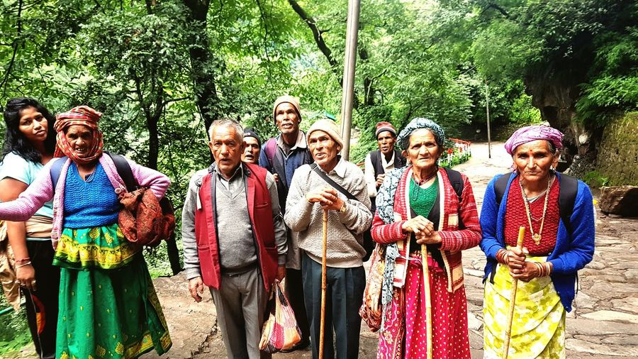 Pilgrims aged 70 plus going in search of lord shiva at kedarnath shrine uttrakhand