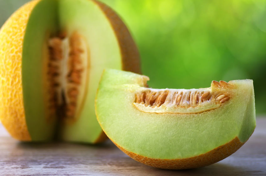 cantaloupe melon on table, green background Close-up Food Food And Drink Freshness Fruit Healthy Eating Melon Melon Fruit Melon On Table, Green Background Peel Ripe Seed SLICE Table