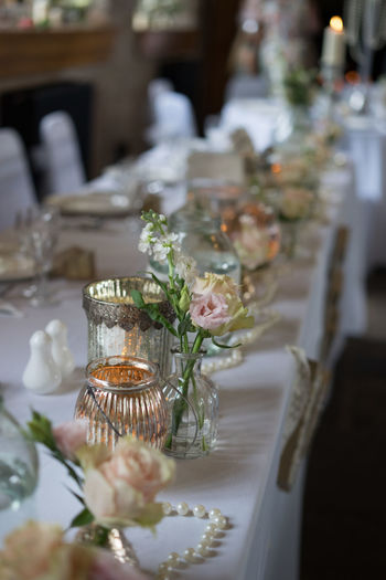 Candle Wedding Wedding Reception Close-up Flowers Indoors  Love ♥ No People Table Vintage Wedding Wedding Room