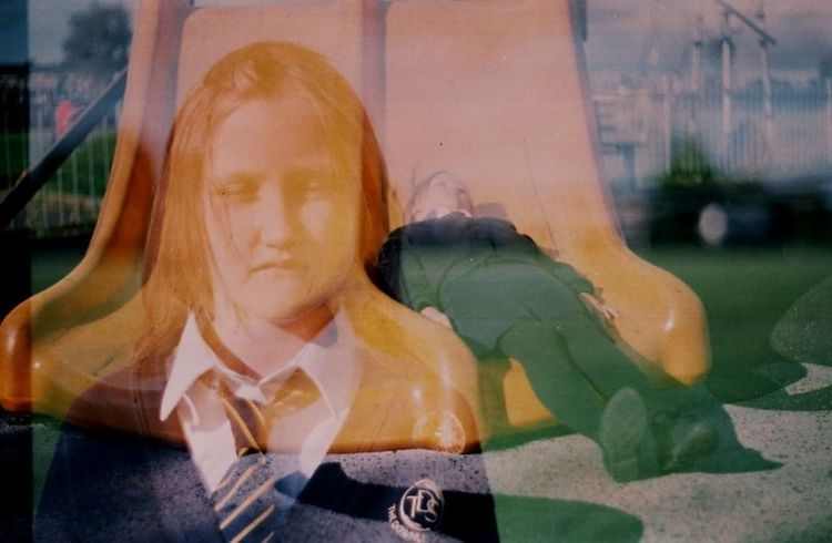 Glitch Girlhood School Life  Childhood Double Exposure Film 35mm Film