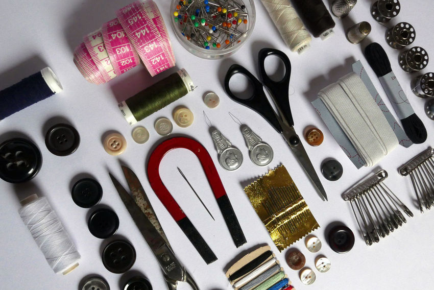 Sewing Stuff Sewing Kit Sewing Tools Things Organized Neatly Sissors