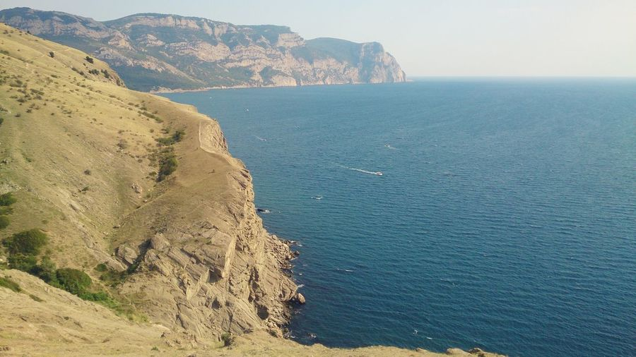 Балаклавские берега. Море пейзаж Sea Landscape Coastline Calm Idyllic Cliff