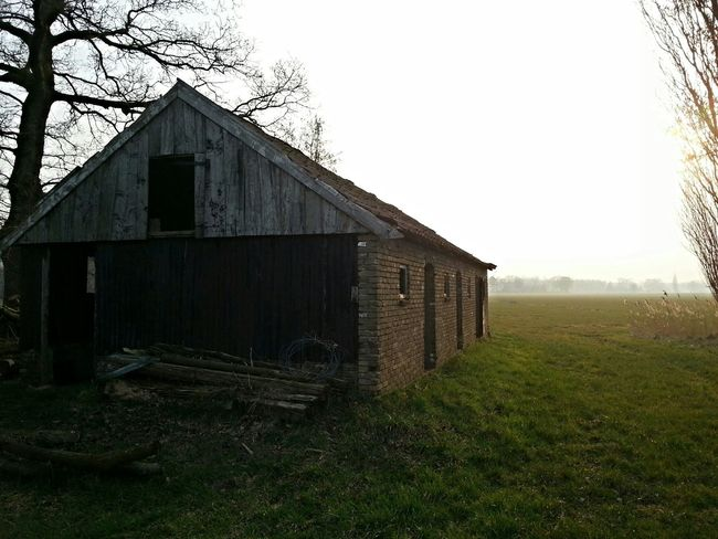 A old shed nearby Borne... With the emerging fog and the church of Borne at the background... ♡ Landscape_photography Farmland Nice View Eye4photography  Loveforphotography Photography EyeEm Best Edits Fog_collection Old Shed Hanging Out