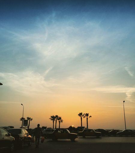 Alexandria Egypt Blue Sky Day No People Outdoors Sky Sunset Transportation