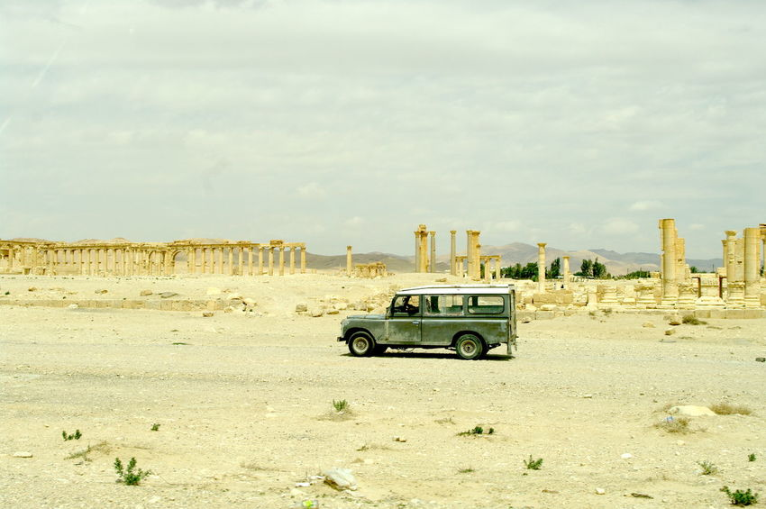 4x4 Palmyra Ruins Syria  Arid Climate Car Day Land Vehicle Landscape Mode Of Transport Nature No People Off-road Vehicle Outdoors Palmyra Sky Transportation