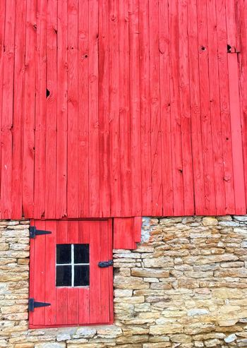 Barn Side Window Built Structure Red Architecture Building Exterior Day No People Outdoors Wood Barns Minimalist Architecture