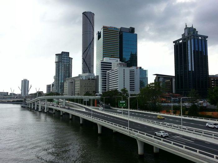 Brisbane City, stormy evening Brisbane Brisbane City Storm Clouds Humid Queensland Australia Brisbane River Metal Buildings Design
