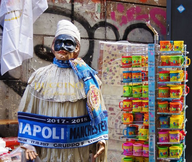 Naples Naples, Italy Napoli Souvenirs/Gift Shop Sports Memorabilia Travel Travel Photography Traveling Travelling No People Scarf Souvenir Souvenirs Spaccanapoli Street Street Photography Streetphotography Travel Destinations Traveller
