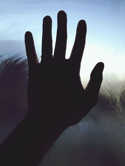 Goodbye... Human Finger Human Body Part Gesturing Silhouette One Person Communication Sign Language Palm Day Indoors  Sensory Perception Close-up Real People Sky Nature People Goodbye Goodbyes Long Goodbye