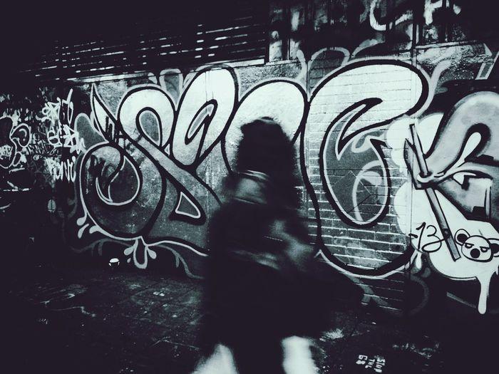 Evil Koala Andrographer Blackandwhite Graffiti Peoplewalkingpastwalls
