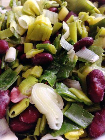 Leek Kidneybeans Kidney Beans Green Onion Vegetables Dinner Vegan Food Vegetarian Food 365 Photos In 2015