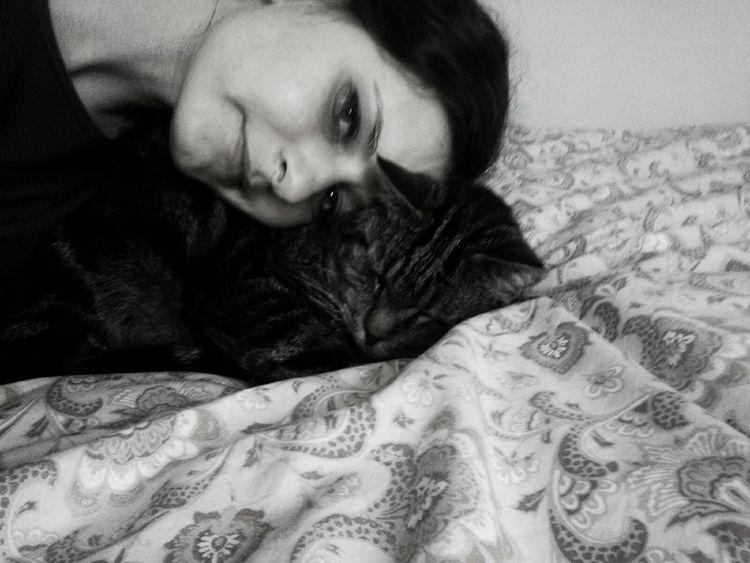 Popular Photos Me Friends Blackandwhite Cat Catlovers Polishgirl Girl Bestfriend
