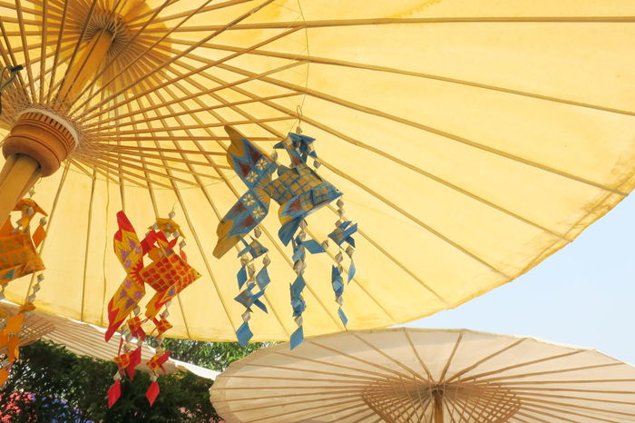 Art And Craft Hanging Thailand Wickerwork Animal Representation Arts Culture And Entertainment Childhood Day Handicraft Handmand Low Angle View No People Outdoors Shelter Umbrella