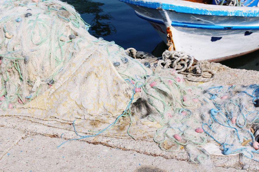 EyeEm Selects Water Nautical Vessel Moored Harbor Lake Fishing Net Rope Close-up Fishing Equipment Fisherman Port Fishing Boat Fishing Industry Commercial Fishing Net