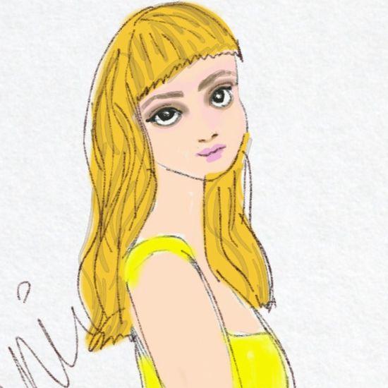 Janie Digital Art Drawing Sketch