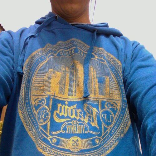 Wearing the sweater @peaceloveramos gave me for our anniversary yesterday :) Fitsme Sheknowsmetoowell Iloveit Blueandyellow