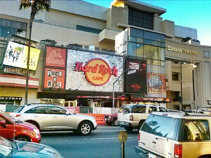 Hard Rock Cafe at hollywood strip!!