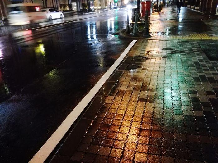 No People Rain Rainy Night City Road Light Night Street Colors Stories From The City