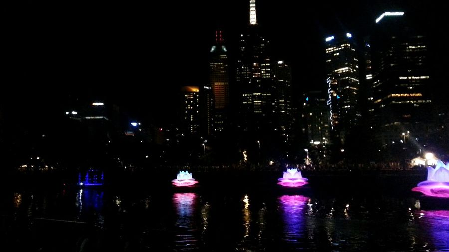 The Places I've Been Today Whitenightmelbourne Lotus Flower Yarra River City Lights Hanging Out Night Lights Check This Out