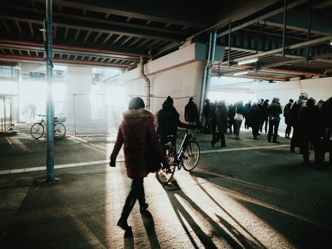 On the way to work... City Life Adults Only People Women Men Real People Streetphotography My Point Of View Transportation Lifestyles Huaweiphotography The City Light Candidmoments Huawei P9 Leica Commuting Commuters Streetphoto Architecture Welcome To Black Let's Go. Together. Berlin Love