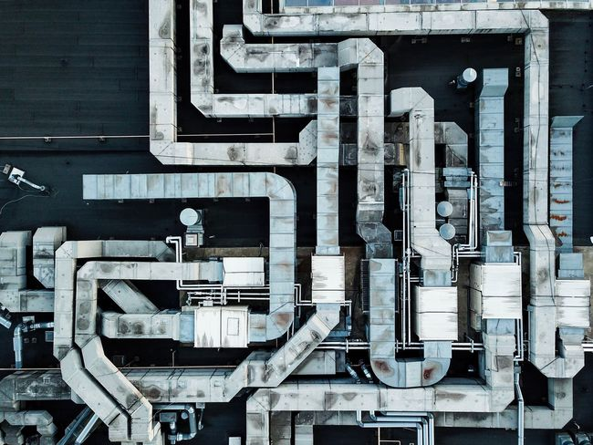 Pipes No People Built Structure Architecture Communication Connection Industry Technology Wall - Building Feature Outdoors Building Exterior Metal Pipe - Tube Equipment Factory