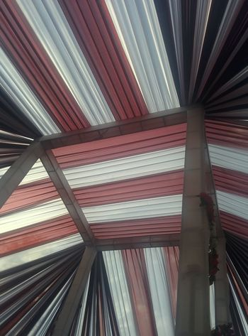 Tent Pattern Backgrounds Built Structure Indoors  Architecture Ceiling Low Angle View