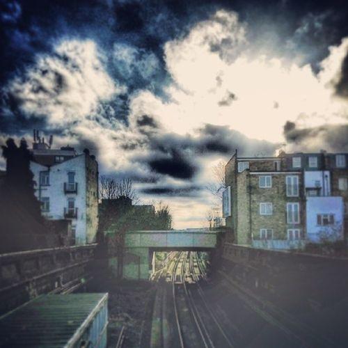 Londonoverground Orangeline Surreyquays Copestreet selondon selondonforever selondonsky selondontillidie selondonrules clouds cloudscape cloudstagram cloudsporn cloudsky railwayline railwaylines tracks