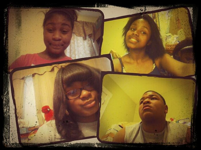 Old Pic.. Me My Sister And Crazy Cousins..