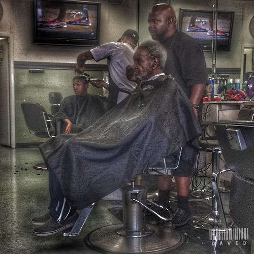 Typical Barbershop moment Haircut Hdr_Collection Taking Photos Peoplephotography HDR Barbershop Getting Fresh People Photography People