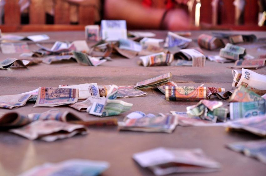 Donation Money Bagan In Myanmar Photopackers Oksk EyeEm Selects Paper Indoors  Selective Focus Large Group Of Objects No People Table Close-up