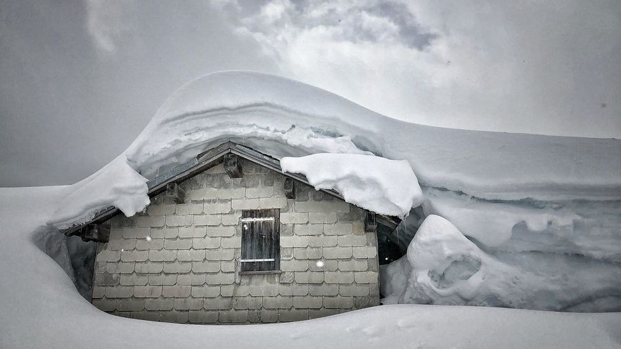 Stormy Weather Winter Wonderland Outside Photography Outdoor Photography Nature Photography Architecture Built Structure Building Exterior Snow Cold Temperature House Day Building Nature Winter Cloud - Sky Outdoors Frozen Sky Beauty In Nature No People