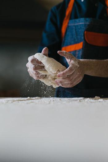 Man working on ice cream
