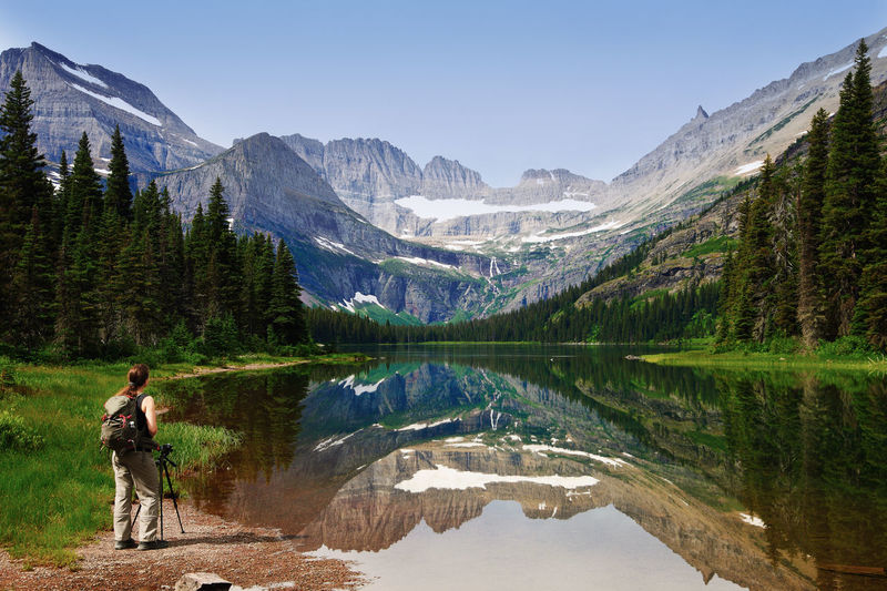 Hiker in glacier national park (Montana, USA) Grinnell Lake Landscape_Collection Montana USA Woman Adventure Beauty In Nature Discovery Exploration Glacier National Park Hiking Hiking Adventures Hikingadventures Lake Leisure Activity Mountain Mountain Range Nature Nature_collection Outdoors Real People Reflection Rocky Mountains Scenics Wilderness Summer Exploratorium The Traveler - 2018 EyeEm Awards