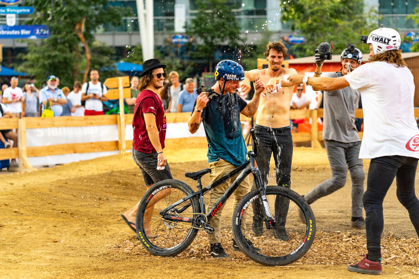 Bike and Style, Airport Munich jump competition Bike And Style, High Jump Competition Jump Velo Action Sports Airport Munich Bicycle Rack Competition Extreme Sports High Angle View Jump Ramp Loop Sky Style Xgames  Summer Sports EyeEmNewHere