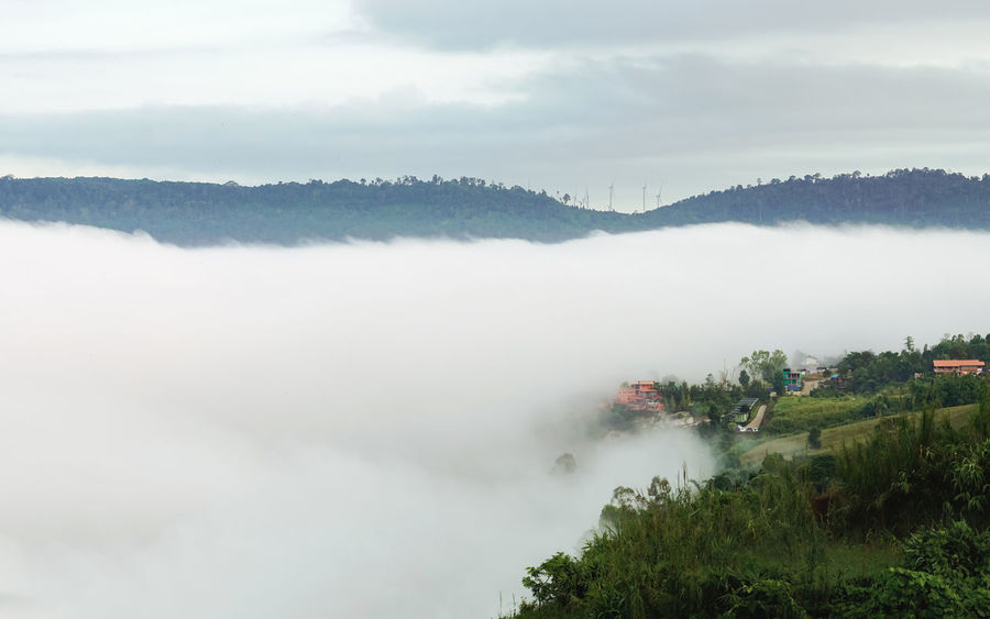Rain Winter Beauty In Nature Cloud - Sky Fog Hazy  Idyllic Landscape Mist Mountain Nature Outdoors Scenics Sea Of Fog Sea Of Mist Season  Tranquil Scene Valley Village