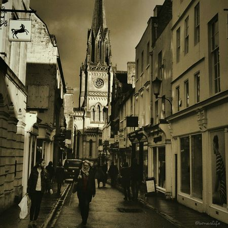 Winterlight Sepia Toned City Of Bath Uk