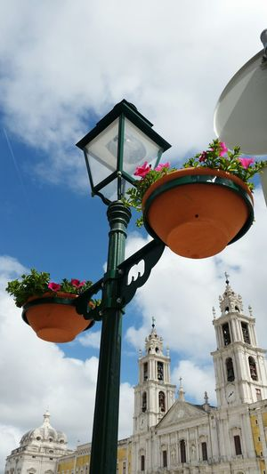 Urban Spring Fever Flowers Spring Spring Flowers Monument Mafra Portugal Historical Building Vase Flower Vase Chandelier Taking Photos Here Belongs To Me Sky Cloudy Sky And Clouds City Architecture Convento De Mafra