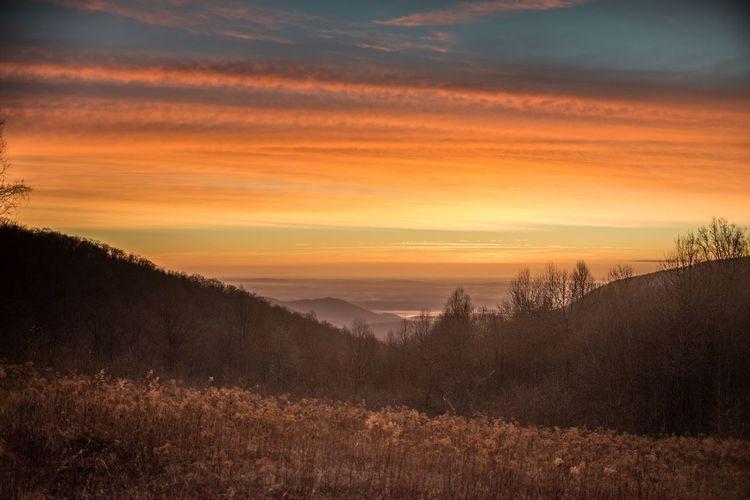 Shenandoah National Park Sunrise Virginia Nature Sky And Clouds Landscape Let's Go. Together.