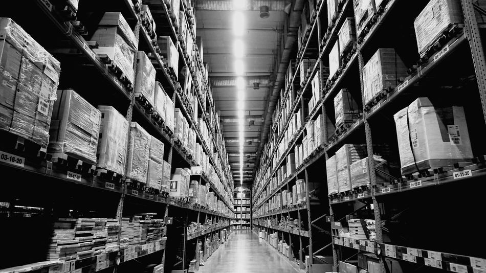 Indoors  No People Warehouse Shelf Products Packaging Package Boxes Box Inventory Supplies Furniture Store Stock Stockpiling
