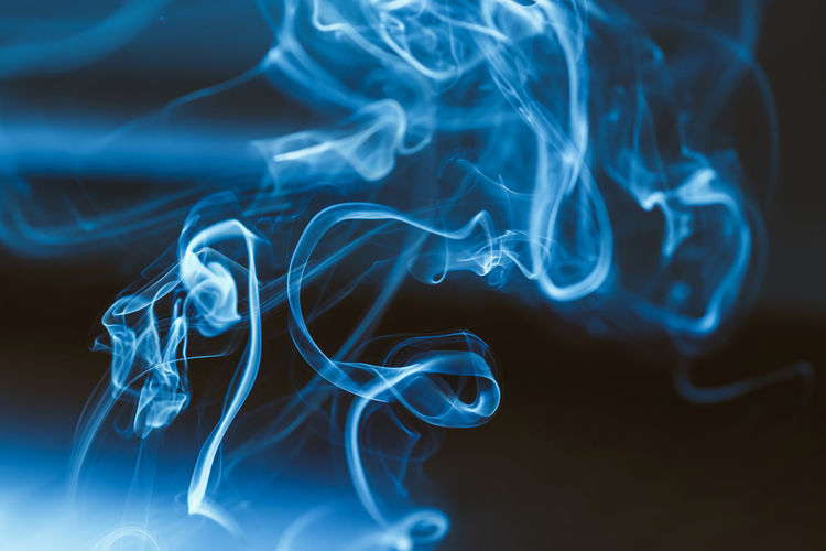 Smoke Abstract Nikon Z7 Z7 Europe Lithuania Lietuva Smokes Incense Sticks Incense Smoke - Physical Structure Pattern Blue Swirl Close-up Indoors  No People Motion Burning Abstract White Color Studio Shot Black Background Curve Design Changing Form Illuminated Natural Pattern Moving Up Flowing Complexity