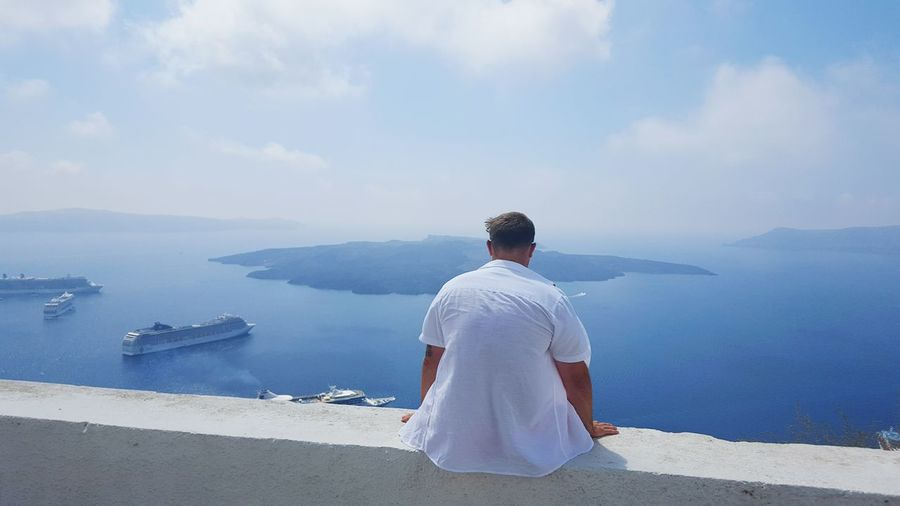 Hanging Out Sun Relaxing Greece Imerovigli Santorini