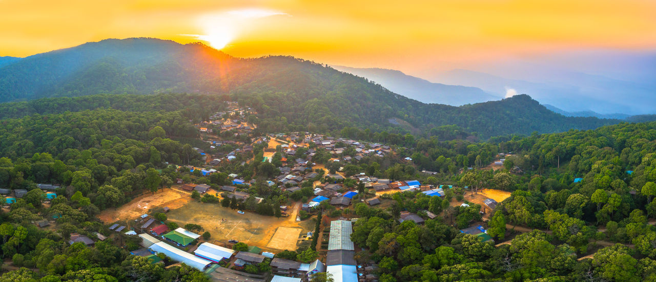 aerial photography Bann Mong Kunchangkien the last Mong hill tribe village on Doi Pui Bann Mong Kunchangkien Chiang Mai | Thailand Cool Doi Pui Doi Suthep Tribal Aerial Hill Trilbe Village North Tribal Village Village