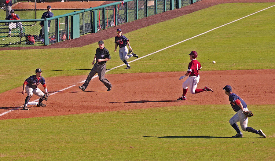 Action Shot  Baseball Field Baseball Game Competition Favorite Picture Green Grass Runner TEAMS