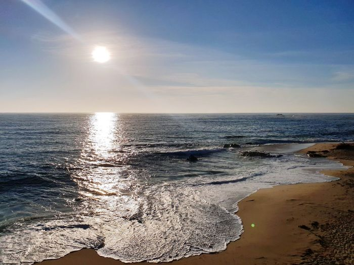 Portugal Cloud - Sky Sky Sky And Clouds Water Sea Wave Sunset Beach Clear Sky Low Tide Sand Sunlight Sun Tide Coast Coastline Ocean