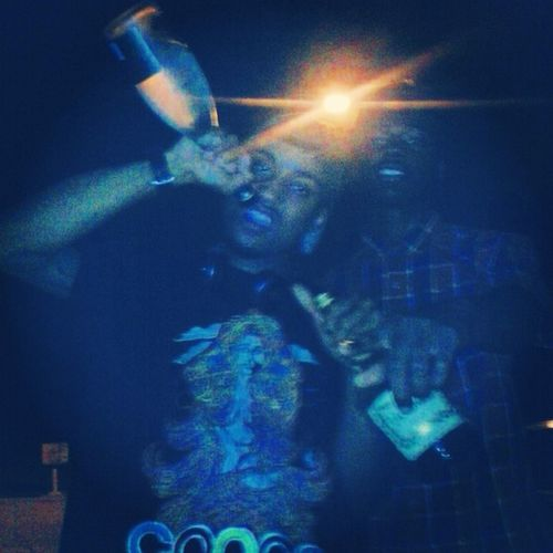 Flexin  With Lil Bro Bottles