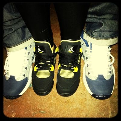 My new shoes#at home with my husband