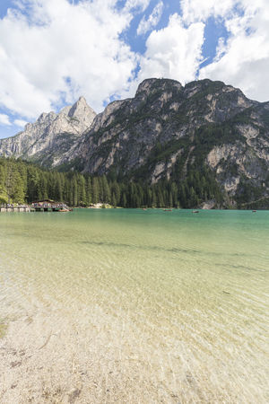 Beauty In Nature Braies Lake Calm Cloud Cloud - Sky Cloudy Coastline Idyllic Landscape Mountain Mountain Range Nature No People Non Urban Scene Non-urban Scene Outdoors Remote Rippled Scenics Sky Tourism Tranquil Scene Tranquility Travel Destinations Water