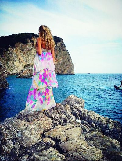 Unknowngirl Sea View Beautiful View Montenegro Blue Sea Loveit Sea And Sky Waves, Ocean, Nature Cliff